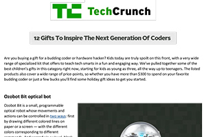 TechCrunch copy