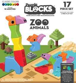 People Blocks Zoo Animals • Ages: 1 year+ • $34.99