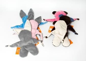 Minkie animal lovies (puppy, bear and bunny) • $22