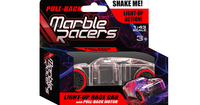 Light-Up Marble Racers with Pull-Back Motor ($9.99)