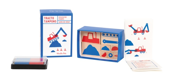 Digger ink stamps • Ages 3+ • $25