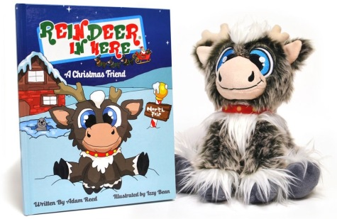 Reindeer In Here plush and book