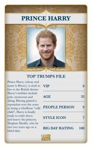 Top Trumps Royal Wedding Prince Harry