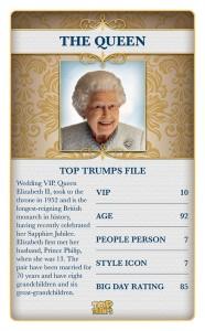 Top Trumps Royal Wedding The Queen