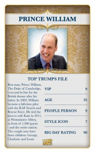 Top Trumps Royal Wedding Prince William