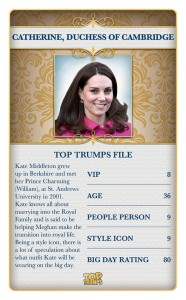 Top Trumps Royal Wedding Catherine