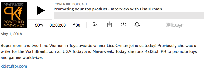 Promoting your toy product - an interview with KidStuff PR's Lisa Orman