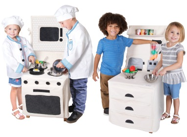 Pop-Oh-Ver Stove Set and Pop-Oh-Ver Counter Top Set • $39.95 each • Ages 3+