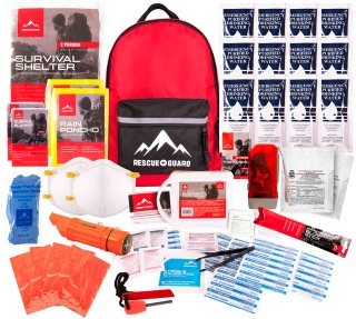 Rescue Guard Hurricane or Earthquake Emergency Kits ($70, $119 and $249)
