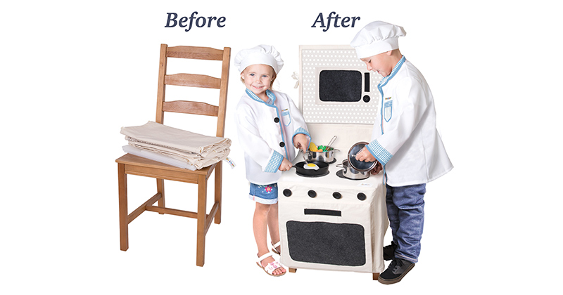 PopOhVer Stove Set Easy-on, Easy-off Design A Preschool Category Finalist