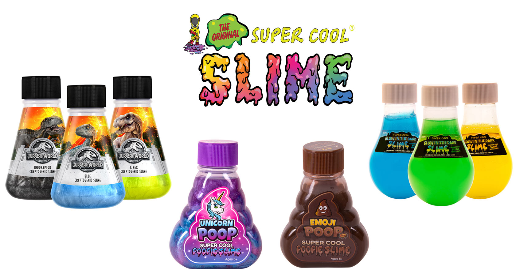 Kangaroo Manufacturing Expands Slime Line With Kid-Friendly Favorites At Just $4.95: Unicorn, Jurassic World, Glow In The Dark And Emoji Poop