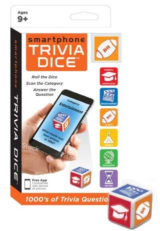 Smartphone Trivia Dice • Ages 9+ • $6.99
