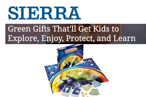 "Adventerra Games' eco-friendly games were the first item recommended by the Sierra Club as ""Green Gifts That'll Get Kids to Explore, Enjoy, Protect and Learn"