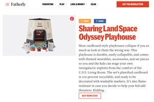 Sharingland featured in Fatherly