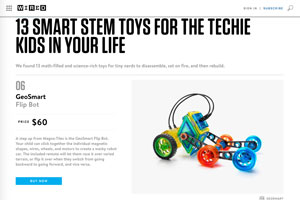 Wired Featured GeoSmart Flip Bot