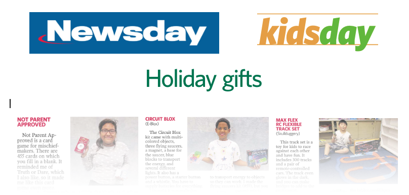 KidStuff PR clients featured in Newsday