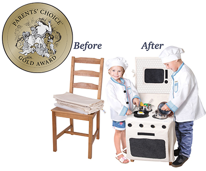 Kangaroo Manufacturing: PopOhVer Stove and County Top Sets • Ages 3+ • $39.99 each