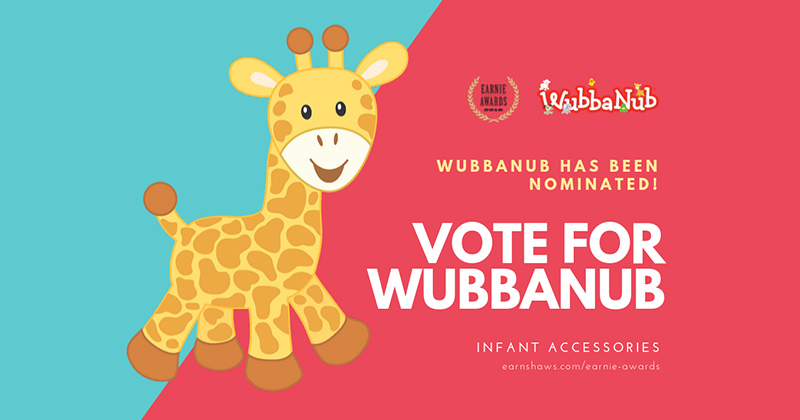 Earnie Award-Nominated WubbaNub Up for Best Infant Accessory