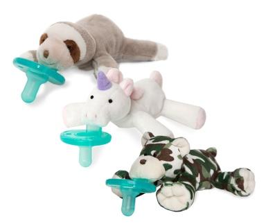 Camo Bear, Blush Pink Unicorn and Baby Sloth