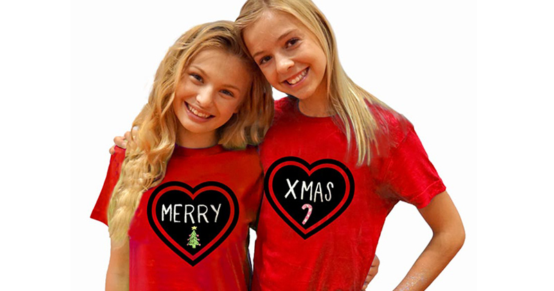 HOLIDAZZLE 'EM! GET THE COOLEST ERASABLE CHALKBOARD T-SHIRTS FOR EVERYONE ON YOUR HOLIDAY GIFT LIST