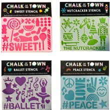 Chalk of the Town Stencils • $4 • Ages 4+