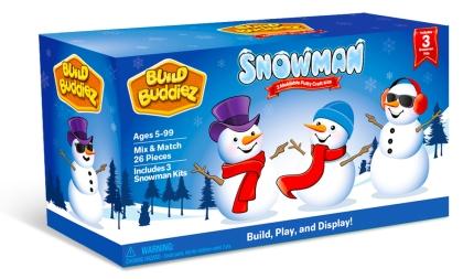 Build Buddiez™ Snowman Craft Kit 3Pack • Ages 5+ • $11.95