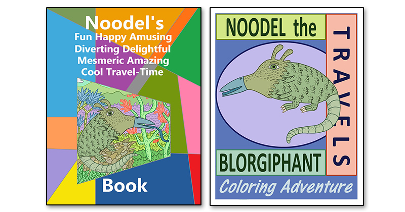 WHAT'S IN A NAME? PATRICK BARNEY CREATES TWO MUST-READ TITLES WITH NOODEL THE BLORGIPHANT