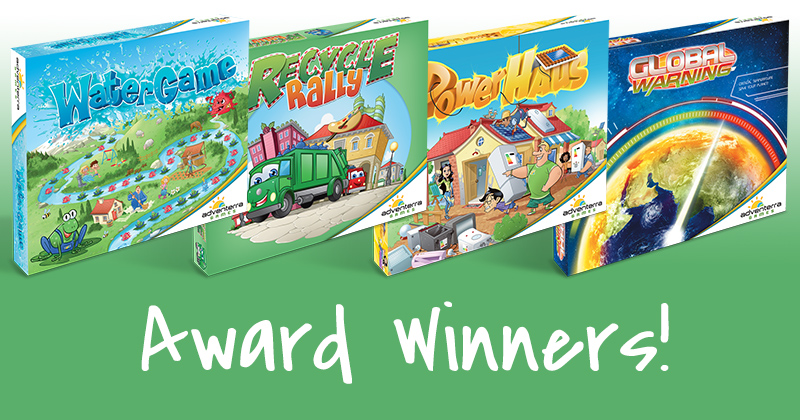 ADVENTERRA BOARD GAMES ARE A WIN-WIN-WIN FOR MOTHER EARTH, KIDS AND TOY INDUSTRY JUDGES