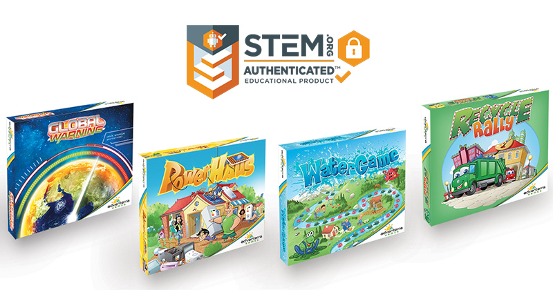 All Four Family-Friendly Environmentally Themed Games Now Bear The STEM.org Authenticated™ Trustmark