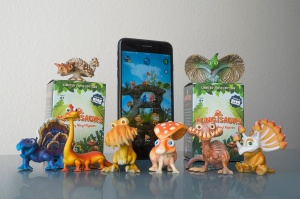 Fungisaurs toys and accompanying AR app.