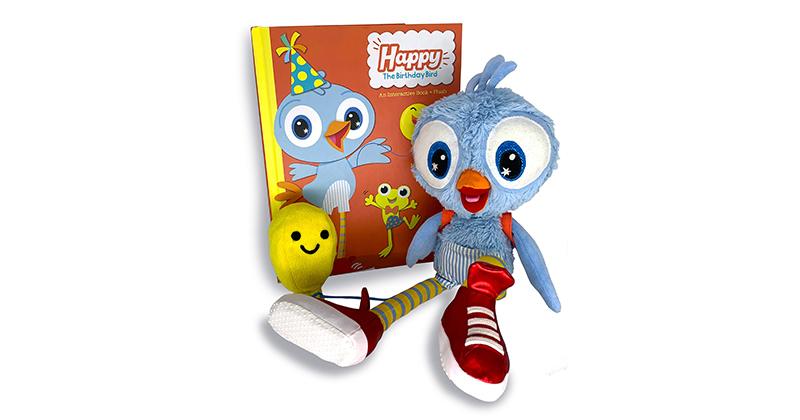 C'MON GET HAPPY! BEGIN A MAGICAL TRADITION AROUND BIRTHDAYS WITH HAPPY THE BIRTHDAY BIRD