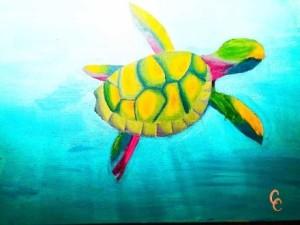 Artwork by a child using iHeartArt art supplies