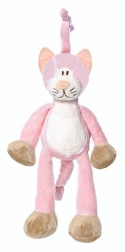 Pink cat musical plush