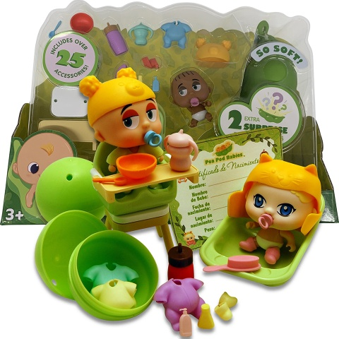 Pea Pod Babies Dinner and Bath Time Playset