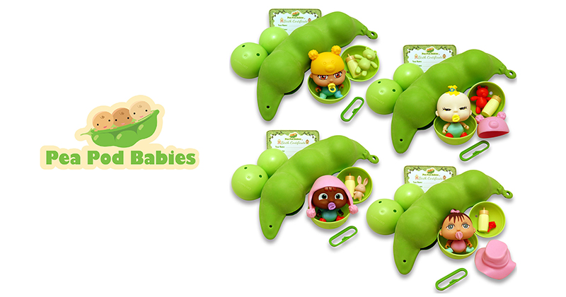 EVEN PICKY EATERS ARE SCOOPING UP THREE PEAS IN A POD – TODAY'S HOT TOY CRAZE—27 Collectible Pea Pod Babies