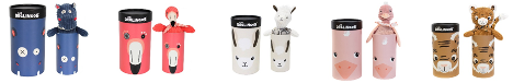 Les Deglingos Soft Toys in Tubes Collection