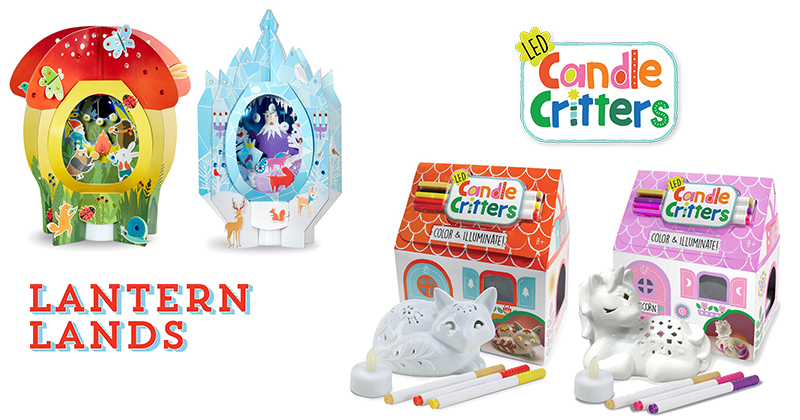 Bright Stripes-Lantern Lands and Candle Critters holiday gift 2020 art kits