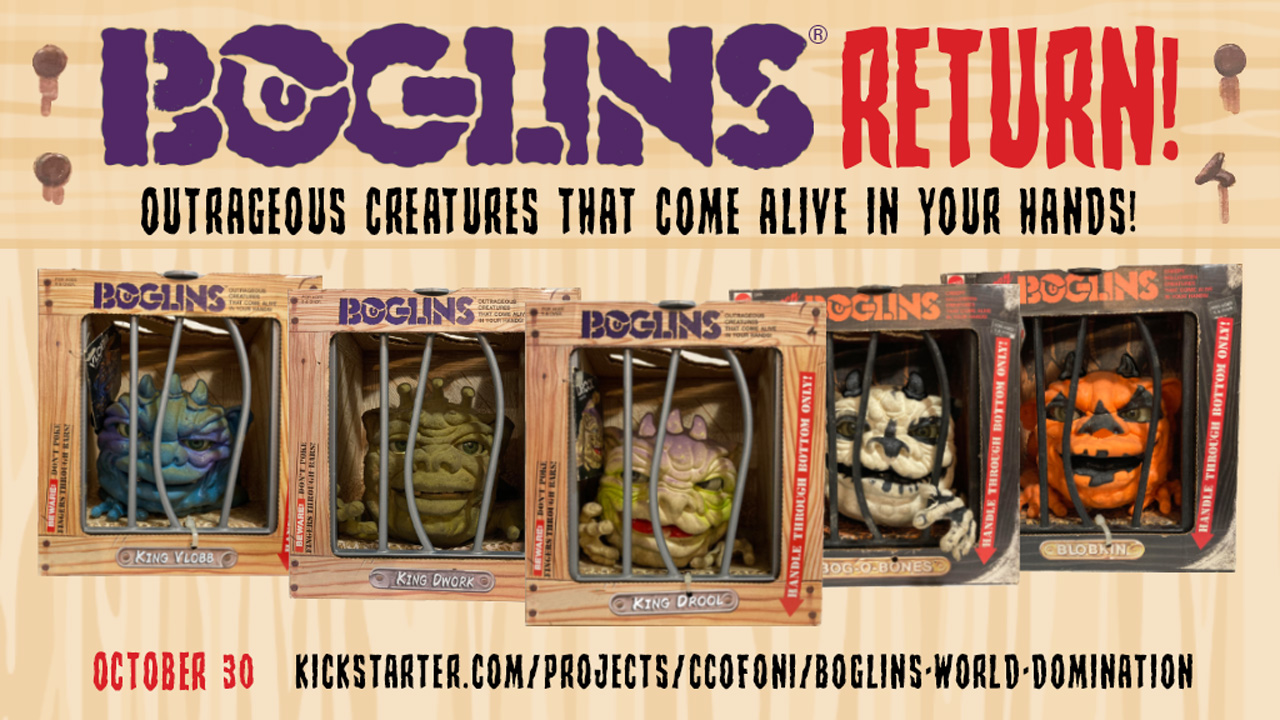 Boglins now on KickStarter