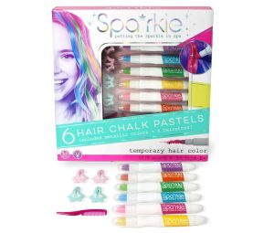 Spa*rkle Hair Chalk Pastels and Barrettes Set • Ages 8+ • $14.99