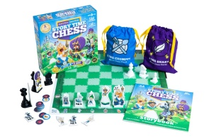 Story Time Chess game with components white background
