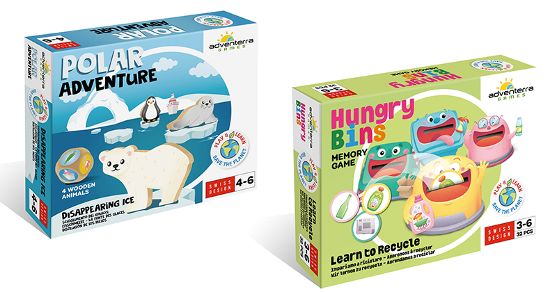 POLAR ADVENTURE & HUNGRY BINS JOIN GAME FOCUS ON PRESCHOOL-LEVEL INTROS TO A GREEN LIFE