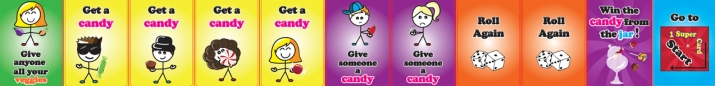Sample cards in Candy Collections game