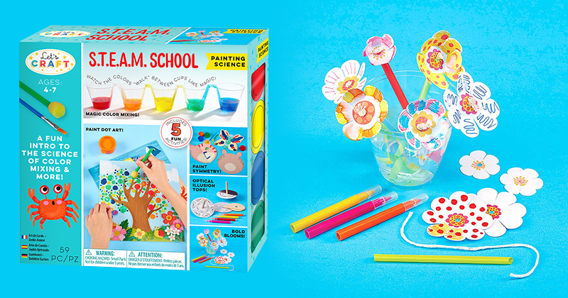 Painting, Sculpting And Drawing Kits Entice Boys And Girls Ages 4 to 7 To Glimpse The Amazing Concepts Of Science, Math And Engineering!