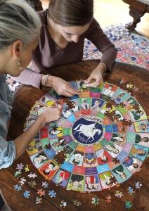 Piece & Love Votes for Women 500 Pc Round Puzzle
