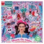 Piece & Love Viva La Vida Frida Kahlo 1000 Piece Jigsaw Puzzle
