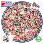 Piece & Love Women March 500 Piece Round Circle Jigsaw Puzzle