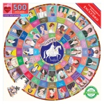 Piece & Love Votes for Women 500 Piece Round Circle Jigsaw Puzzle