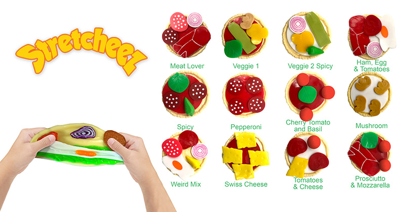 STRETCHEEZ™ SERVES UP A HANDS-ON CULINARY ADVENTURE WITH APPETIZING PLAY FOOD SETS
