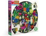 New! Piece & Love Organic Harvest 500 Piece Circle Jigsaw Puzzle • $21.99