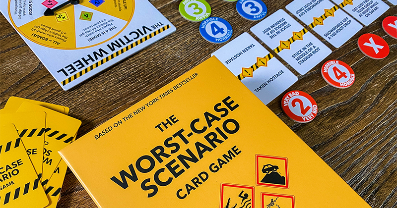The Worst-Case Scenario® Card Game ($19.99) available exclusively at Target and Target.com in July.